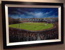 Third Lanark, Cathkin Park, Glasgow   Original FRAMED artwork in oils 51cm x 76cm